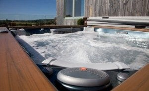 Relax at Tredethick in the hot tub