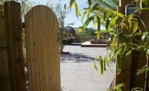 Relax at Tredethick in the hot tub garden